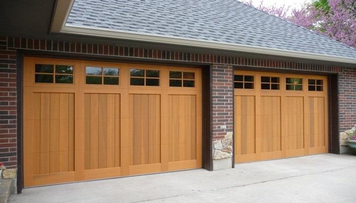Wood Garage Door Riverside